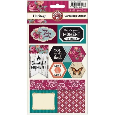 Ruby Rock-It Heritage 2-Sheets Cardstock Stickers Multi-Colored
