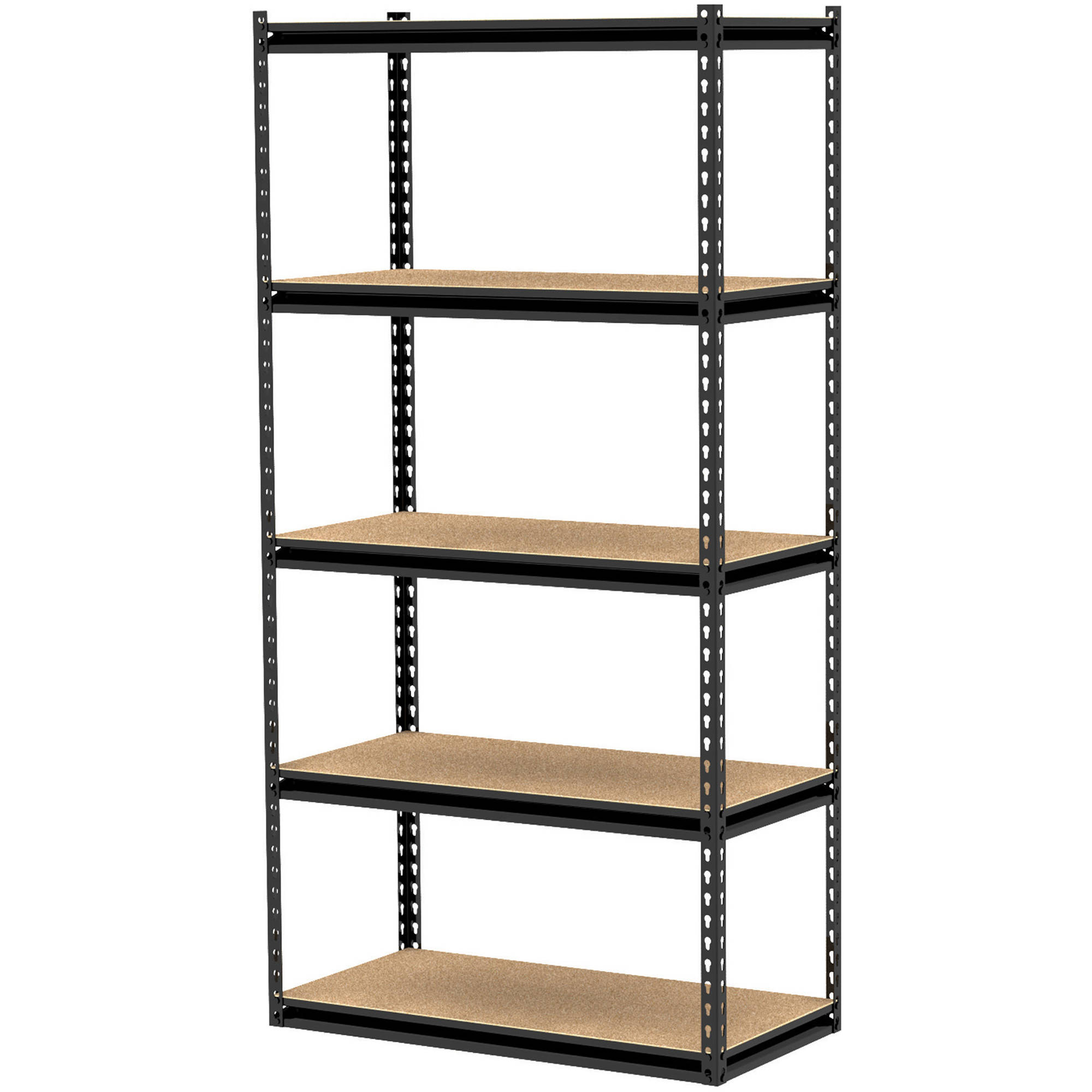 "Gorilla Rack 36"" x 18"" x 72"" 5-Shelf Z-Beam Unit, Black"