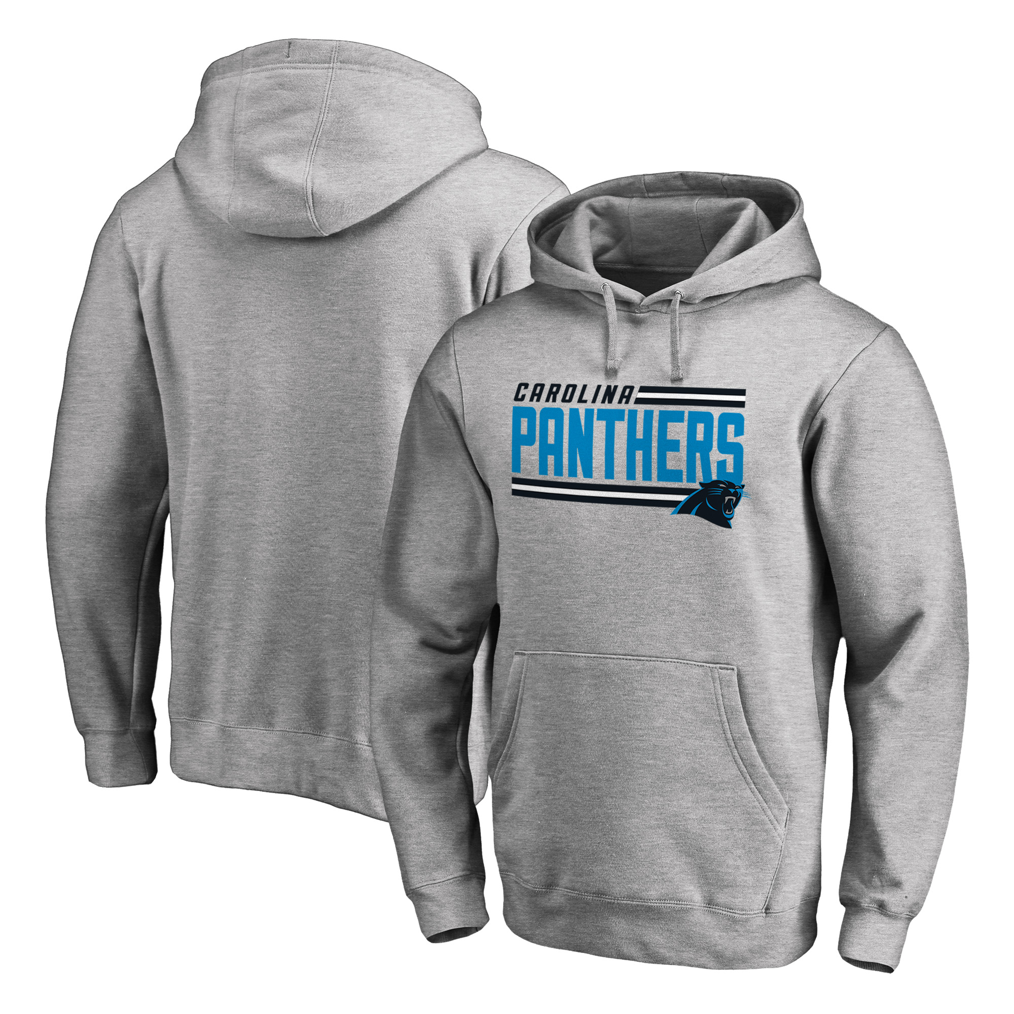 Carolina Panthers NFL Pro Line by Fanatics Branded Iconic Collection On Side Stripe Big & Tall Pullover Hoodie - Ash