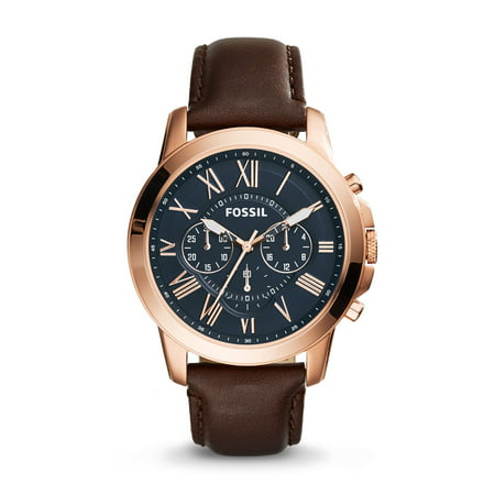 Men's Grant Chronograph Brown Leather Watch (Style: FS5068)
