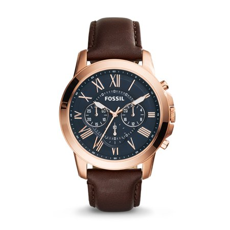 Fossil Men's Grant Chronograph Brown Leather Watch (Style: FS5068) (Fossil Watch Color)