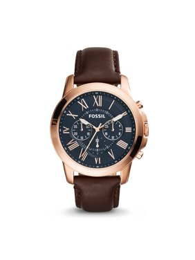 1a97b03ba Product Image Men's Grant Chronograph Brown Leather Watch (Style: FS5068)