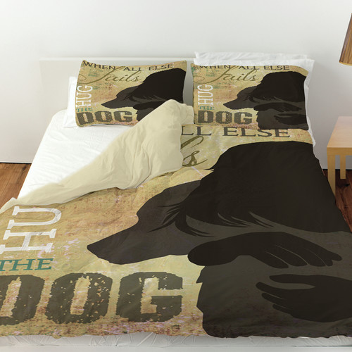Manual Woodworkers & Weavers Hug the Dog Duvet Cover