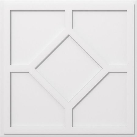 Ekena Millwork CMP36EY 36 in. OD x 12.5 in. Square Embry Architectural Grade PVC Contemporary Ceiling Medallion - image 1 of 1