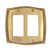 BRASS Accents Rope Double GFCI Wall Plate (Set of 2)