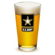 16 Ounces Pint Glass ARMY STAR LOGO, Set of 6 by Erazorbits
