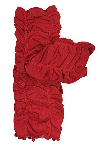 ALLYDREW Solid Baby Leg Warmer & Solid Toddler Leg Warmer for Boys & Girls, Scrunch Red