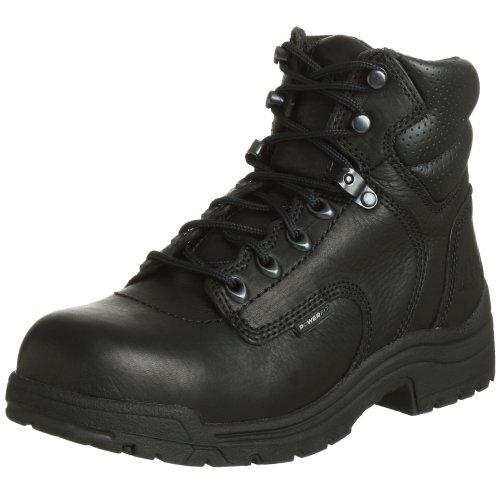 "Timberland PRO Women's 72399 Titan 6"" Safety-Toe Boot,Black,6.5 W by Timberland"