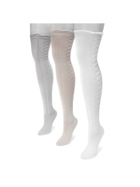 Women's Lace Texture Over the Knee Socks 7 x 3.5