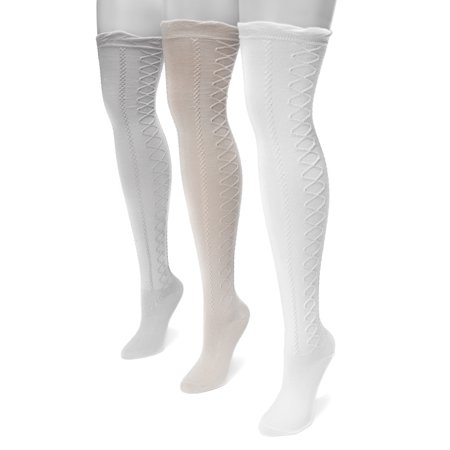 Women's Lace Texture Over the Knee Socks 7 x 3.5 ()