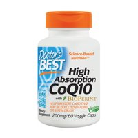 Doctor's Best High Absorption CoQ10 + BioPerine Capsules, 200 Mg, 60 Ct
