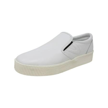 Tretorn Women's Bella 2 Leather Vintage White / Black Ankle-High Slip-On Shoes - 11M ()