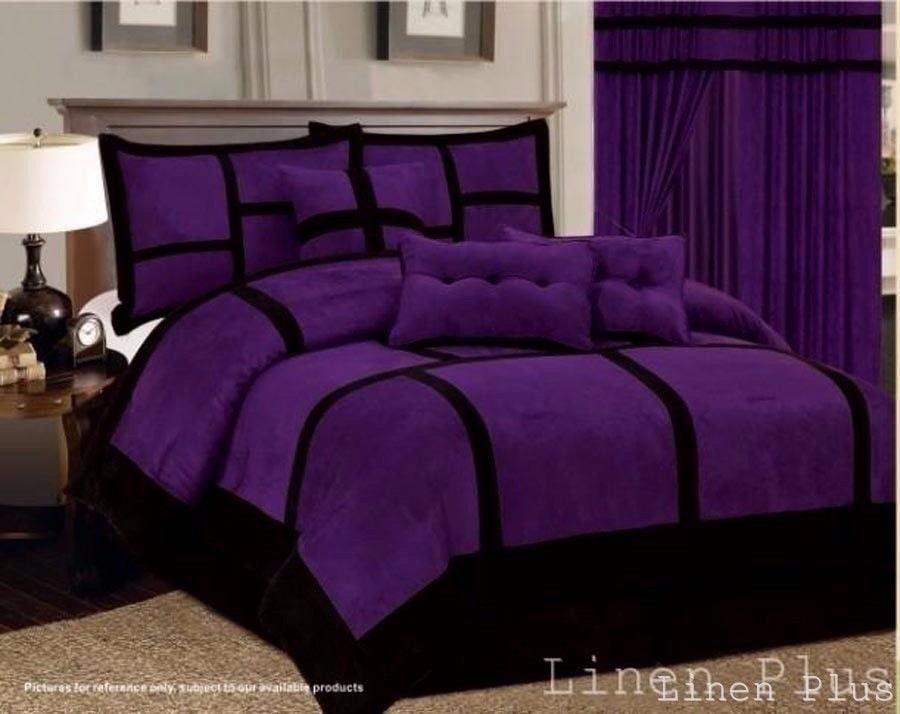 Oversized Royalty Design Red /& Black 7-piece Nadia Comforter Set Bedding