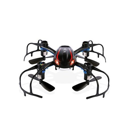 - Mini RC Drone RTF for Beginner, 2.4GHz Radio Control Tiny RC UFO Quadcopter, Spider Nano RC Glider Helicopter, 360-degree 3D Rolling and LED Night Lights (Black)