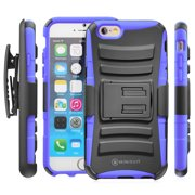 Minisuit Hybrid Holster Kickstand Belt Clip Case for Apple iPhone 6 6S Blue [Dual Layer, Shock Absorbent, Heavy Duty]