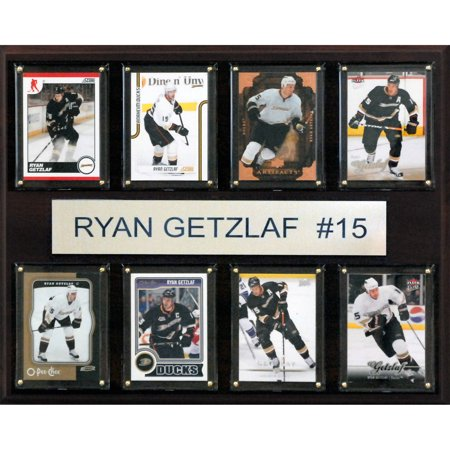 Signed Anaheim Ducks - C&I Collectables NHL 12x15 Ryan Getzlaf Anaheim Ducks 8-Card Plaque