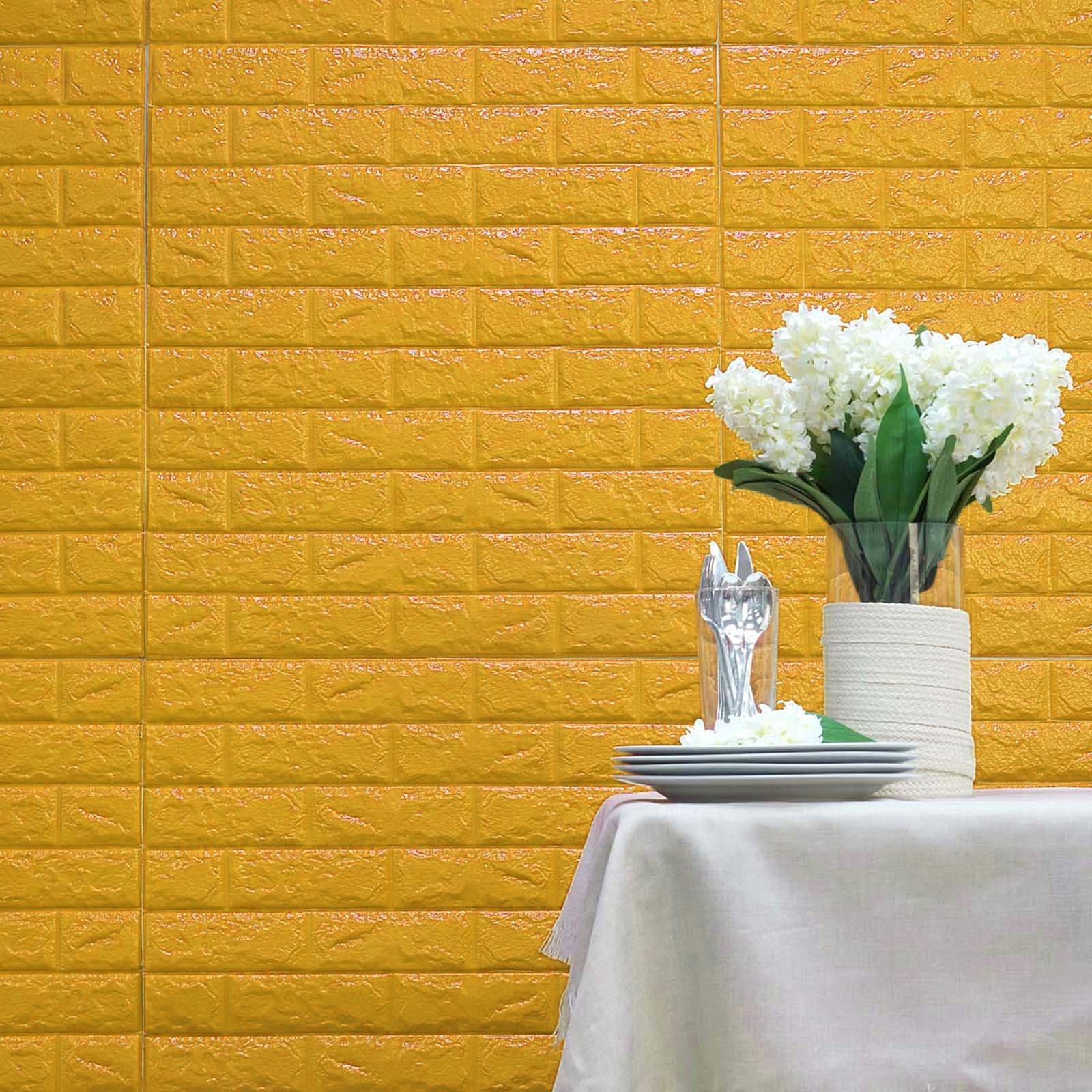 "BalsaCircle 10 pcs 33"" wide Faux Brick Texture Waterproof Foam Wall Panels DIY Party Backdrop Kids Room Decorations"