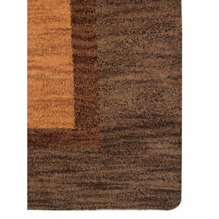 Rugsotic Carpets Hand Knotted Wool 6'x9' Area Rug Floral Gold Brown N00922
