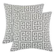 Brite Ideas Living Towers Ash Slub 17 x 17 in. Decorative Throw Pillow - Set of 2 .