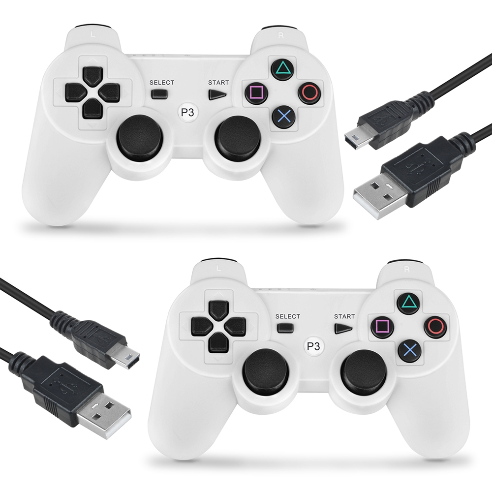 Wireless Controller for PS3 Sony with Charger Cable, ABLEGRID Wireless Controller Bluetooth Game Controller for Sony PS3