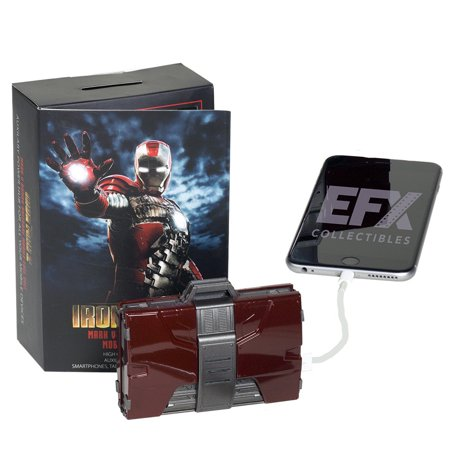 Marvel Iron Man Mark V Armor Suitcase Mobile Battery Charger  1 4 Scale