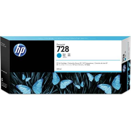 - HP 728 (F9K17A) Cyan Original Ink Cartridge (300 ml)