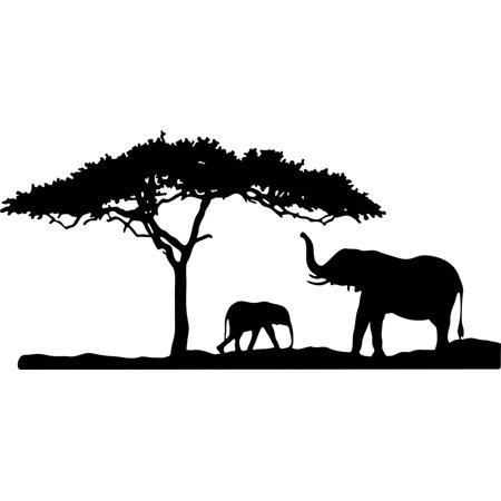 - Custom Wall Decal Boys Vinyl Animal Decals For Walls Elephant Bedroom Sticker Decals 12 X 30 Inches