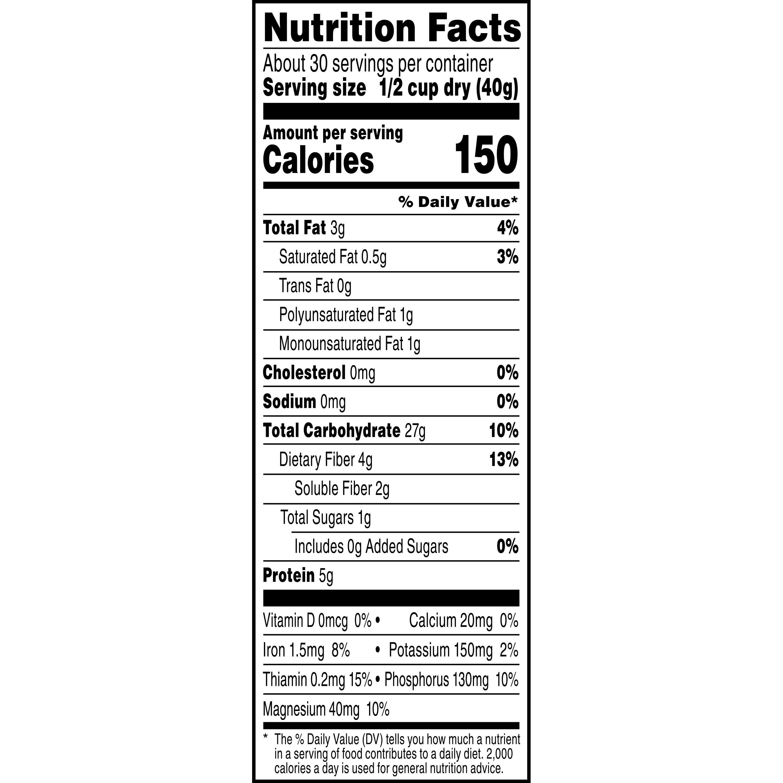 Kết quả hình ảnh cho quaker oats quick 1 minute nutrition facts