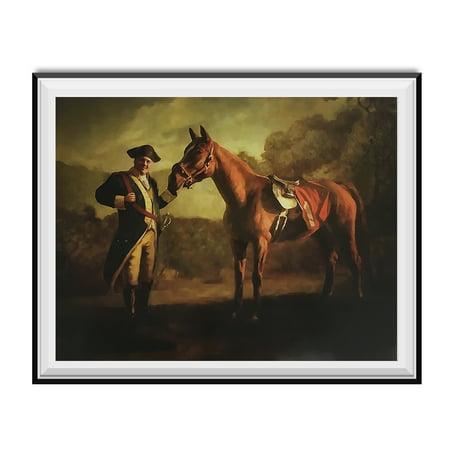 Napoleon Tony Soprano And Pie-O-My Horse Painting Poster The Sopranos Race 18x24 ()