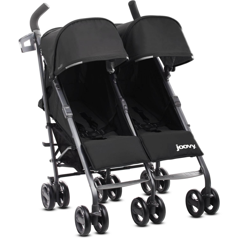 Joovy Twin Groove Ultralight Double Twin Stroller Double Umbrella Stroller, Black by Joovy