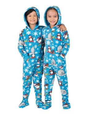 Footed Pajamas - Winter Wonderland Toddler Hoodie Fleece Onesie