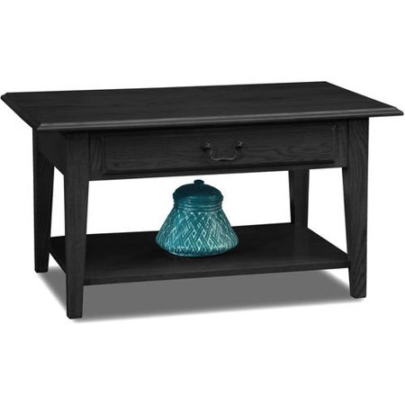 Leick Home Shaker Style Wood Drawer Coffee Table Multiple Colors
