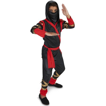 Tough Black and Red Ninja Child Halloween Costume