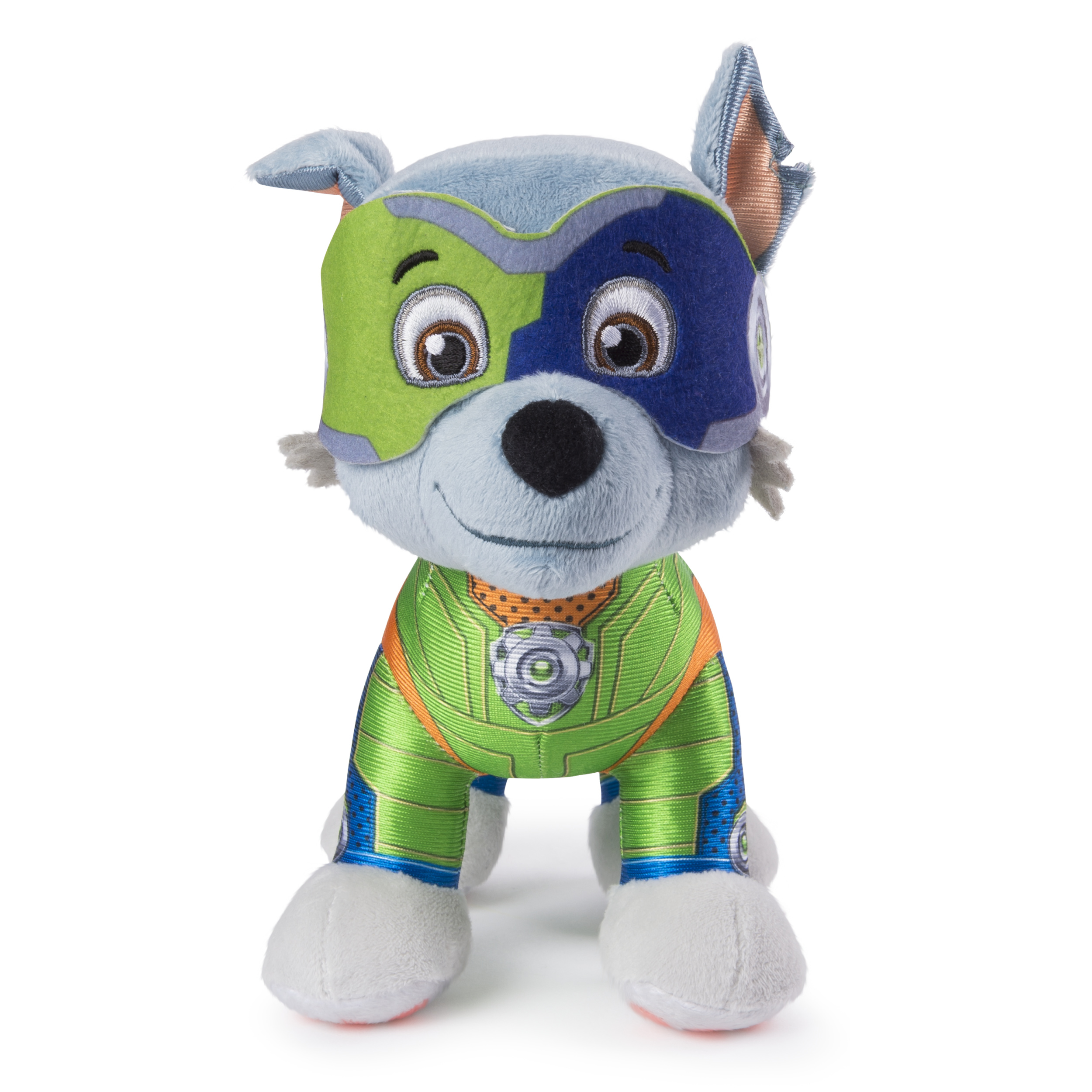"PAW Patrol - 8"" Mighty Pups Rocky Plush, for Ages 3 and Up, Wal-Mart Exclusive"