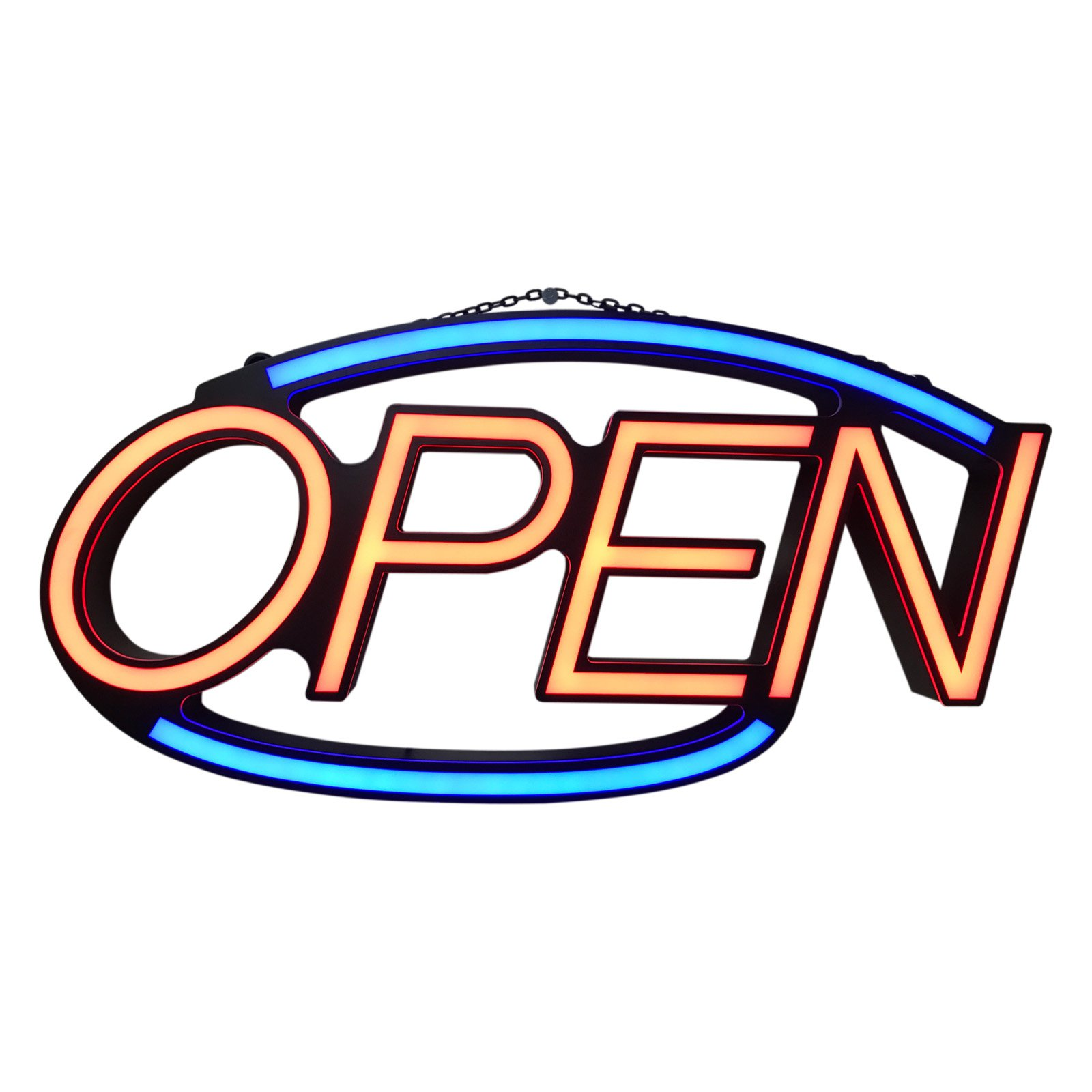 "Oval Soft LED ""OPEN"" Sign; Product Size: W: 25"" X 11.4"" Height x 2.5 Depth; Great for store, shops, open Sign, Soft LED Neon light"