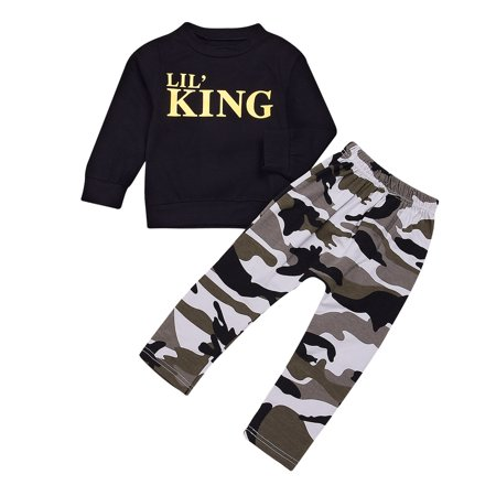 6M-6T Toddler Infant Kid Baby Boys Clothing T-shirt Tops+Pants Outfits Set