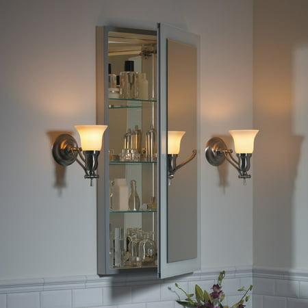 Robern Main Line 23.25'' x 39.38'' Mirrored Recessed Electric Medicine Cabinet