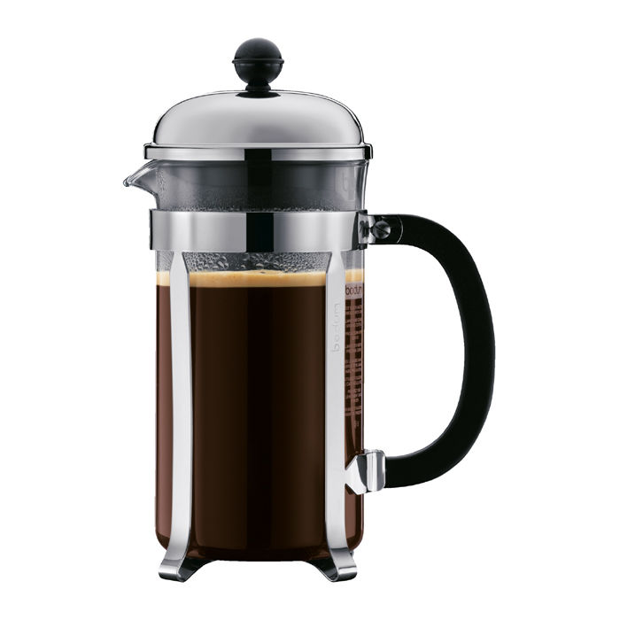 Bodum CHAMBORD Coffee maker, 8 cup, 1.0 l, 34 oz, plastic, Chrome
