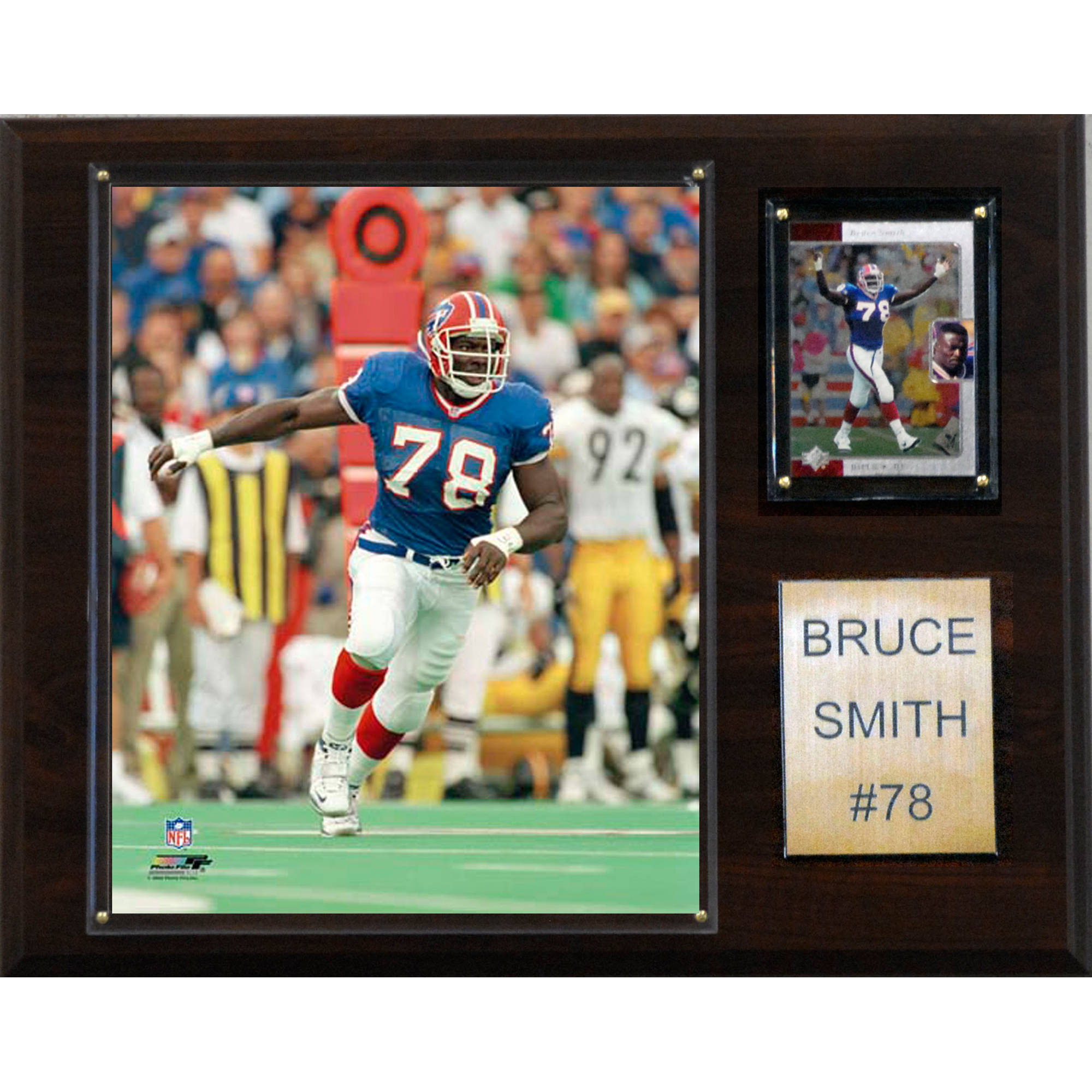 C&I Collectables NFL 12x15 Bruce Smith Buffalo Bills Player Plaque