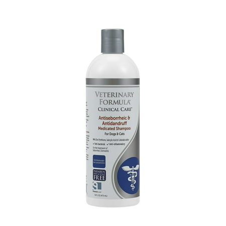 Veterinary Formula Clinical Care Antiseborrheic & Antidandruff Shampoo for Dogs & Cats, 16