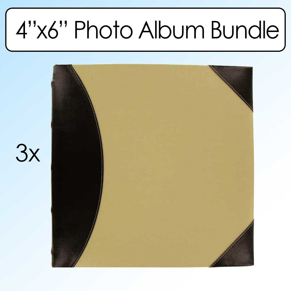 Pioneer Photo Albums Fabric Leatherette 500 Photo Album 4X6 2-up 3-pack