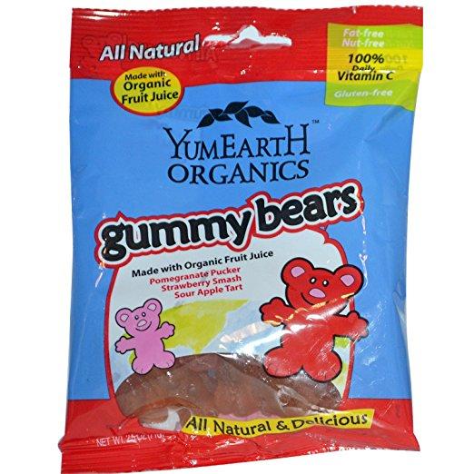 Yummy Earth Organic Gummy Bears, 12 Packs, 2.5 oz