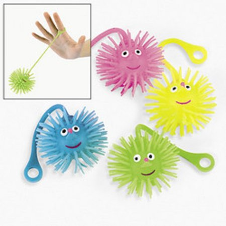 Ball Party Favors - Lot of 12 Smile Face YoYo Puffer Balls Party Favors