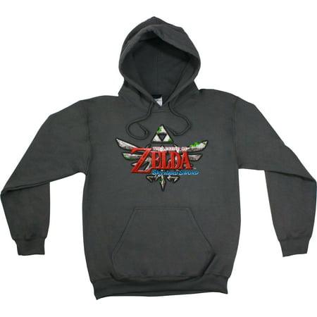 The Legend Of Zelda  Skyward Sword Mens Gray Pullover Hoodie