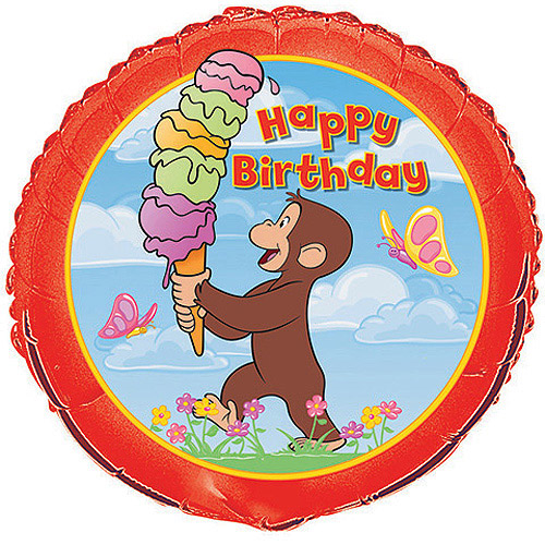 "18"" Foil Curious George Birthday Balloon"