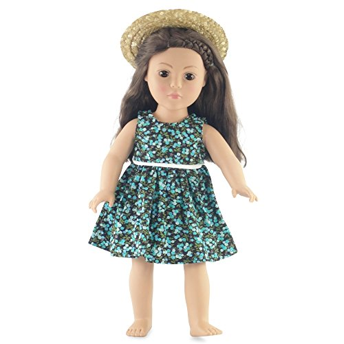"18 Inch Doll Floral Dress Outfit | Fits 18"" American Girl Dolls 