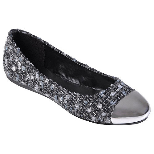 Brinley Co Womens Multi-color Cap Toe Ballet Flats