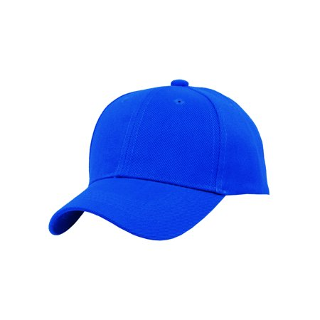 TopHeadwear Blank Kids Youth Baseball Adjustable Hook and Loop Closure Hat](Baby Blue Top Hat)