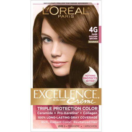 LOreal Paris Excellence Creme Hair Color G Dark Golden Brown - Hair colour dark golden brown