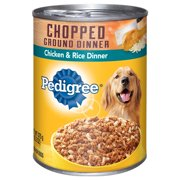 PEDIGREE Chopped Ground Dinner Chicken and Rice Canned Dog Food 13.2 Ounces
